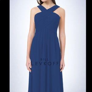 Horizon Blue Formal Maxi Dress